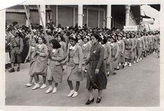 School girls marching in Baghdad, 1939