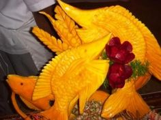Food art in the Dominican Republic.