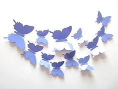 Clest F&H 12pcs 3D Art Butterfly Decal Wall Sticker Home Decor Room Decoration Christmas Gift (Lavender)