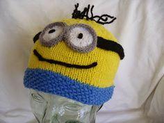 Knitting Patterns For Minion Hats Minions Hats Knitting Patterns For Minion Hats Minion Hat Calico Joy. Knitting Patterns For Minion Hat. Arm Knitting, Knitting For Kids, Knitting Projects, Knitting Ideas, Knitting Patterns Free, Crochet Patterns, Free Pattern, Minion Hats, Minions