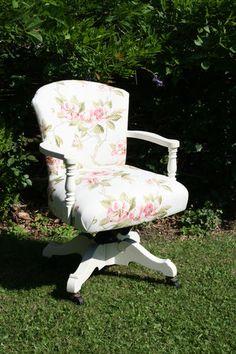 Shabby chic office swivel chair | eBay