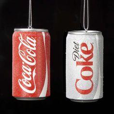 # CC1801  #COCA-COLA® #CAN #ORNAMENT - #CLASSIC AND #DIET #cocacolaornaments