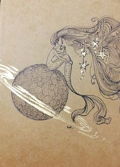"tyleramato: ""Melancholy mermaid with stars in her eyes. "" Saturn"