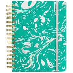 ban.do Jade-Color Marble Agenda ($28) ❤ liked on Polyvore featuring home, home decor, stationery and green