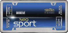 Neo Sport, Black Chrome License Plate Frame