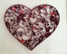 Quilled heart , so beautiful !!