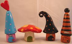 gnome homes   - fimo sculpey polymer clay