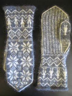 ElaKnit: Sekelskiftesvantar Knitted Mittens Pattern, Crochet Mittens, Fingerless Mittens, Knitted Gloves, Knitting Charts, Knitting Socks, Hand Knitting, Knitting Patterns, Wrist Warmers