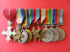 9 Australian Army Medals WW1 George MBE 1914 15 Star WW2 39 45 Africa Star ETC.