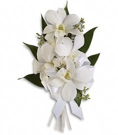 Order Graceful Orchids Corsage NYC Flower Delivery-delivered from Starbright Floral Design, your local New York florist. Send Graceful Orchids Corsage for fresh and same day flower delivery throughout New York, NY area. Prom Flowers, All Flowers, Wedding Flowers, Wedding Bouquets, Floral Wedding, Prom Corsage And Boutonniere, Corsage Wedding, Boutonnieres, Mother Of Bride Corsage