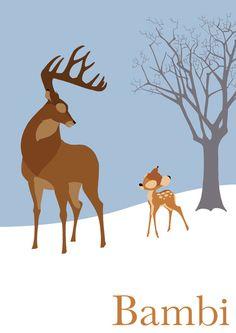 Bambi Art Print by TheWonderlander
