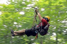 Laurel Ridgeline Canopy Tours at Seven Springs Mountain Resort is one of many in the area that lets riders glide through the trees and over other terrain.