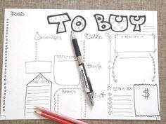 to buy journal printable planner agenda layout di LaSoffittaDiSte