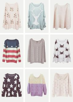 Sweaters! :) must have Beach wear hipster vintage love you me girl ...