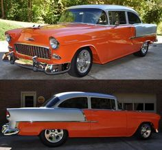 55 Chevy. pinned because my brother had one, his was green.