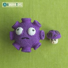 Gloom And Puff Shrooms (Plants Vs. Zombies) Amigurumi Pattern