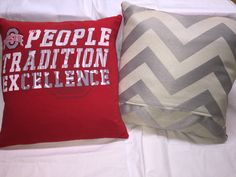 A personal favorite from my Etsy shop https://www.etsy.com/listing/286474883/osu-ohio-state-university-t-shirt-pillow