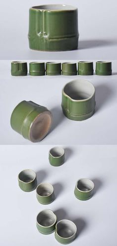Ceramic Green Bamboo Style Water Coffee Cup Mug Novelty Mugs, Custom Mugs, Mugs Set, Nespresso, Coffee Cups, Bamboo, Christmas Gifts, Shapes, Ceramics