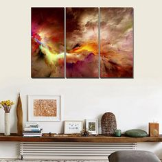 Cuadros Fashion 5 Pcs Canvas Art Abstract Painting Color Cloud Wall Decor Pictures No Framed Tableau Peinture Sur Toile Posters - Inch Size : Size 1