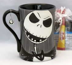 Jack Nightmare Before Christmas Cup Mug Disney Store w/Charm, Tea, Coffee Gift Set Free US Shipping JHFK $36.77 at ShopJustGifts.com
