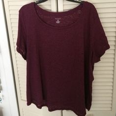 Sonoma 2X Wine colored burnout tee Very generous cut 2X wine colored burnout tee Sonoma Tops Tees - Short Sleeve