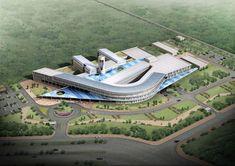 Samsung C&T Project Architecture Site Plan, Hospital Architecture, Library Architecture, Museum Architecture, Architecture Panel, Architecture Portfolio, School Architecture, School Building Design, Base Building