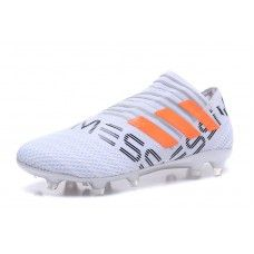 new concept a65ed 8f65e Cheap 2018 Adidas Nemeziz 17 360 Agility FG White Orange Black Football  Shoes Outlet Shop