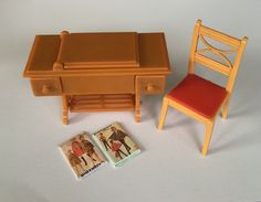 A personal favorite from my Etsy shop https://www.etsy.com/listing/280013130/rare-color-renwal-sewing-machine-chair