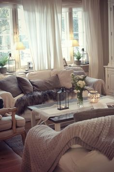 Beautiful Living Room With White Tray Tables From Hay And A Grey Bowl By Lassen Via Valkoinen Harmaja
