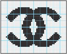 Logo Chanel - got to do this in needlepoint
