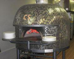 Stefano Ferrara oven in Rockville, MD at Pizza CS. Masculine bling.