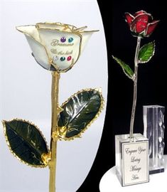 Give mom a Rose with Birthstones of the children or grandchildren on the petals of a rose. Add a special message. A variety of colors and metal styles are available with prices starting at $89.95.
