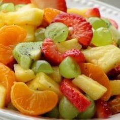 Tangy Poppy Seed Fruit Salad (maybe use mandarin oranges to make it easy!)