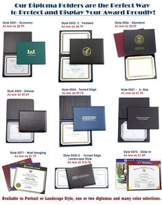 Diploma Holders - Come to us for a Large Selection