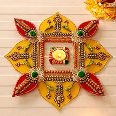 Rangoli Designs for Diwali: Buy Diwali Rangoli Online, Rangoli Stencils Colorful Rangoli Designs, Rangoli Designs Diwali, Diwali Rangoli, Rangoli Designs Images, Diwali Craft, Diwali Gifts, Thali Decoration Ideas, Acrylic Rangoli, Diwali Decorations At Home