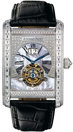Audemars Piguet Edward Piguet Tourbillon Diamond Mother of Pearl Men's Watch 26119BC.ZZ.D002CR.01