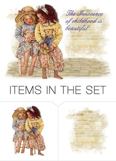 """Childhood"" by sjlew ❤ liked on Polyvore featuring art"