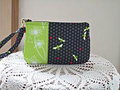 Wristlet Zipper Gadget Pouch Purse Flora And by Antiquebasketlady, $11.99 #teamsellit #sylink