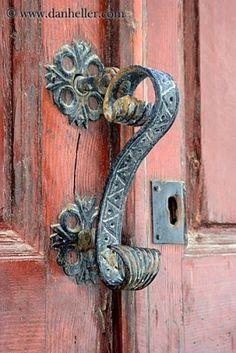 fabulous old door handle by alfreda