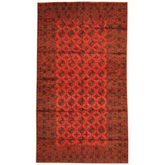 Herat Oriental Afghan Hand-knotted 1960s Semi-antique Tribal Balouchi Wool Rug (6' x 10'7)