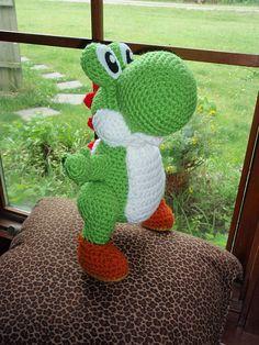 Ravelry: Free Amigurumi Yoshi Pattern pattern by Trischa Morales (Crochet) Crochet Mario, Cute Crochet, Crochet Crafts, Crochet Baby, Knit Crochet, Ravelry Crochet, Crotchet, Yoshi, Crochet Patterns Amigurumi