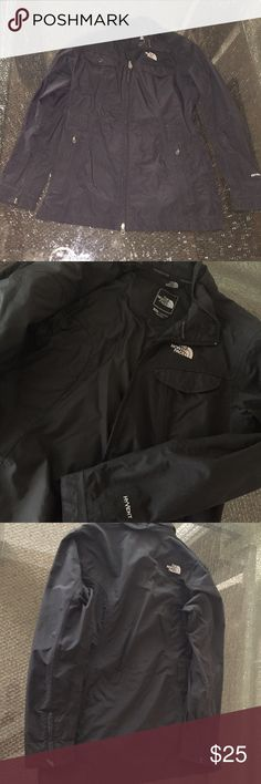 Black The North Face Windbreaker Great condition, has belt loops but does not come with belt, light material North Face Jackets & Coats Utility Jackets