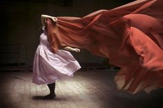 """""""a ray of hope"""" by Mandy Rosen, via Flickr. #mandy_rosen #photography #fabric #women #red #pink #motion #light"""