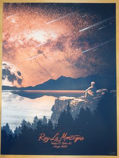 2014 Ray Lamontagne - Mobile Concert Poster by Monkey Ink