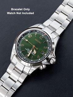 Seiko Alpinist on Super Oyster Bracelet Seiko Sarb, Seiko Watches, Seiko Automatic, Automatic Watch, Bracelet Cuir, Bracelet Watch, Cool Watches, Watches For Men, Seiko Alpinist