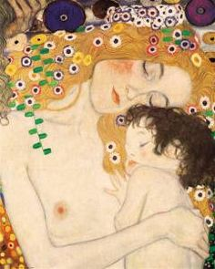 Mother and Child portion from Klimt's Three Stages of Woman