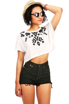 Shape Shifter Tee | Cropped Tees at Pink ICe #tee #tshirt #croppedtee #pinkice