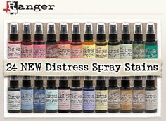ready to kick off the weekend with new release announcements for some new products coming your way!  if you've been loving the whole new way to distress with sprays, ranger is adding the 24 remaini...