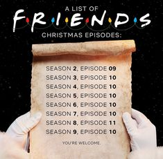 Thanks Netflix! Friends Christmas Episode, Funny Christmas Movies, Christmas Humor, Friends Christmas Quotes, Friends Thanksgiving Episodes, Serie Friends, Friends Moments, Friends Show, Friends Cast