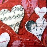 Servítka - Dáma v srdci